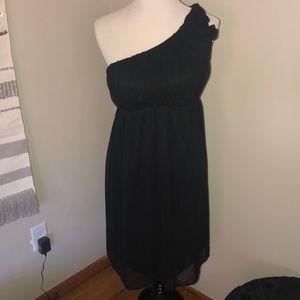 Merona Size Small Asymmetrical Little Black Dress
